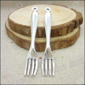 Antique Silver Fork Charms