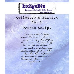 IndigoBlu Collectors Edition Cling Mounted Stamp - French Script