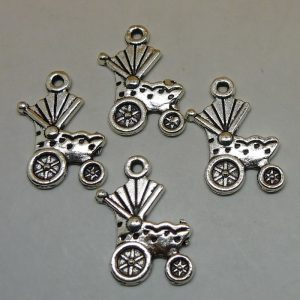 Antique Silver Pram Charms