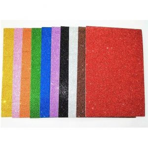 Mixed Colour Self-Adhesive Glitter Foam Sheets Pack