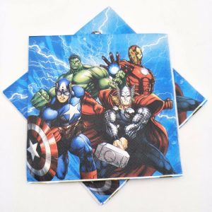 Superheros And Their Friends Decoupage Napkin