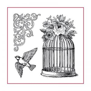Stamperia HD Natural Rubber Stamp - Cage