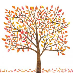 Autumn Tree With Leaves Decoupage Napkin