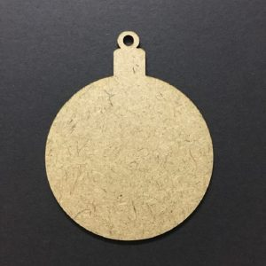 Christmas Tree Bauble MDF Cutout