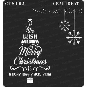 CrafTreat Stencil - Christmas Tree Wish