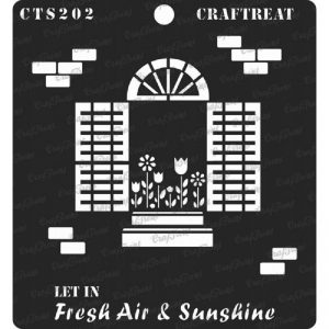 CrafTreat Stencil -  Fresh Air and Sunshine