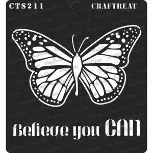 CrafTreat Stencil -  Believe you can