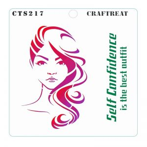 CrafTreat Stencil -  Confident Woman