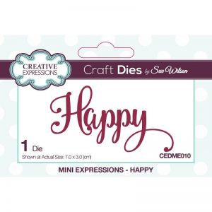 Creative Expressions Cutting Dies - Happy