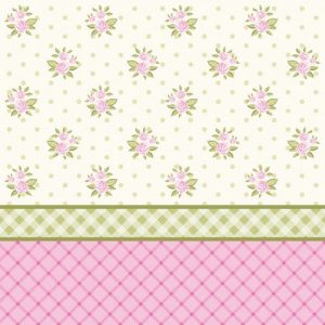 Small Roses Wallpaper Decoupage Napkin
