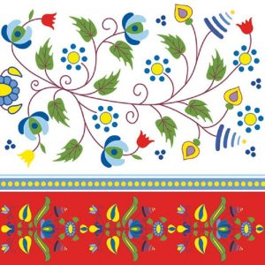 Embroidery Pattern Decoupage Napkin