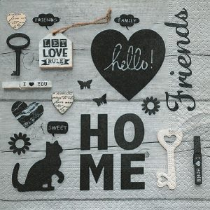 Let Love Rule With Sweet Home Decoupage Napkin