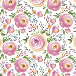 Pink Painted Colour Flower Decoupage Napkin