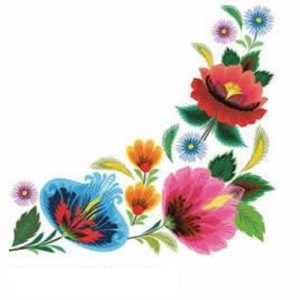 Mixed Colour Flowers Frame Decoupage Napkin