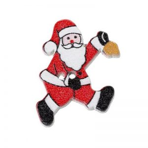 Santa With A Jingle Bell Wooden Buttons