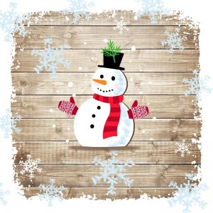 A Snowman With Gloves Decoupage Napkin