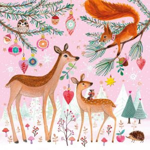 Christmas In the Forest Decoupage Napkin