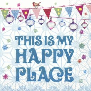 This Is My Happy Place Decoupage Napkin