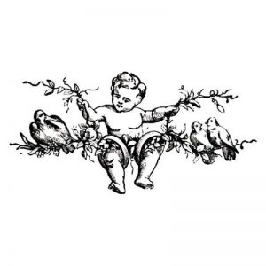 Stamperia Clear Stamp - Angel On A Branch