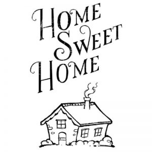 Stamperia Clear Stamp - Home Sweet Home