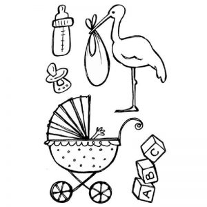 Stamperia Clear Stamp - Stork