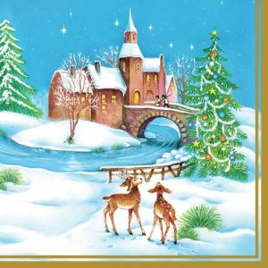 Christmas In The Country Decoupage Napkin