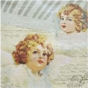 Two Angels Decoupage Napkin