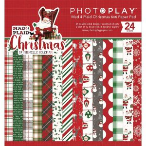 PhotoPlay Double-Sided Paper Pad Mad For Plaid Christmas