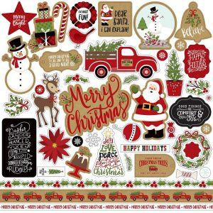 Echo Park Celebrate Christmas Cardstock Stickers