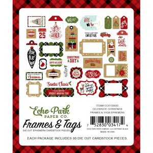 Echo Park Celebrate Christmas Cardstock Die-Cuts Frames and Tags