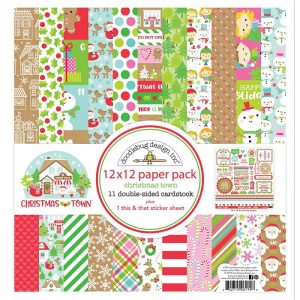 Doodlebug Double-Sided Paper Pack Pack - Christmas Town