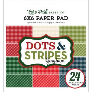 Echo Park Double-Sided Paper Pad - Christmas Gingham