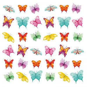 Mixed Colour Butterfly Decoupage Napkin