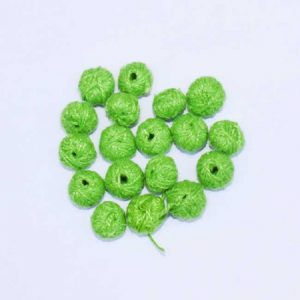 Parrot Green Cotton Thread Beads