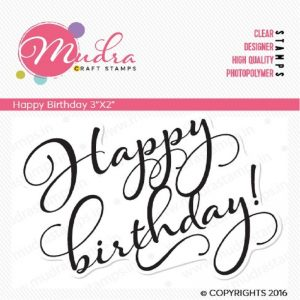 Mudra Clear Stamp - Happy Birthday