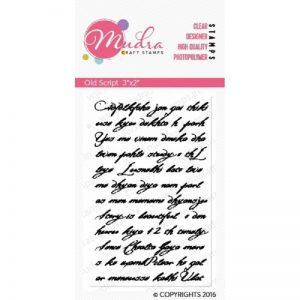 Mudra Clear Stamp - Old Script