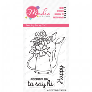 Mudra Clear Stamp - Peeping Bunny