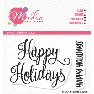Mudra Clear Stamp - Happy Holidays