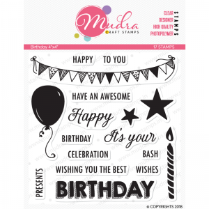 Mudra Clear Stamp - Birthday