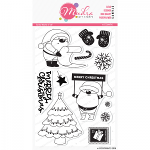 Mudra Clear Stamp -Santa World