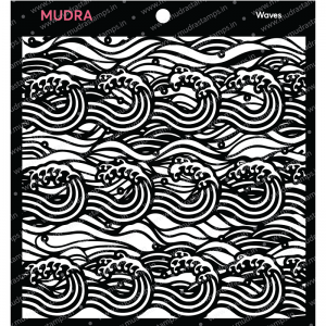 Mudra Stencil - Waves