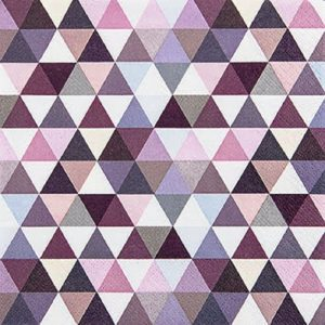 Purple Shades Triangle Decoupage Napkin