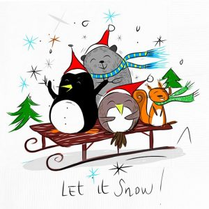Let It Snow Decoupage Napkin