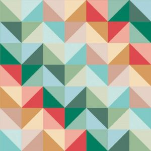 Pastel Shades Triangle Decoupage Napkin