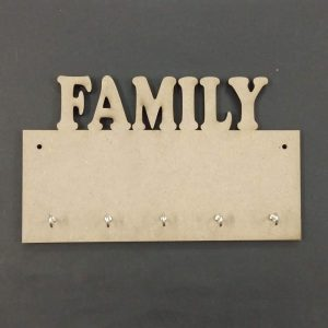 MDF Rectangle FAMILY Key Hanger
