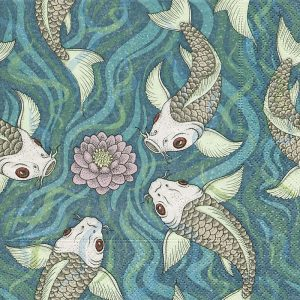 Fishes In A Pond Decoupage Napkin