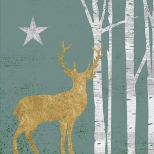 A Deer In Green Background Decoupage Napkin