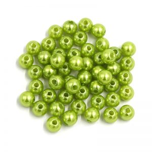 Parrot Green Faux Pearl Beads