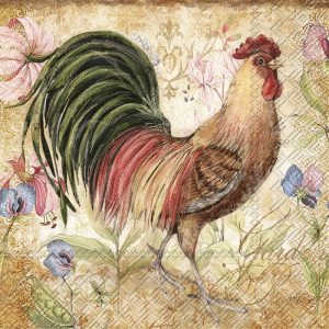 Rooster Decoupage Napkin