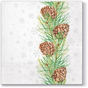 Cones On Branch Decoupage Napkin